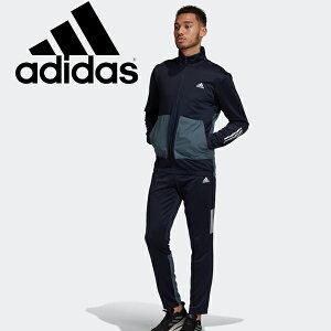 スウェット 上下セット メンズ/アディダス adidas M トラックスーツ ファブリックミックス FABRIC MIX/スポーツウェア ジャケット パンツ 上下組 男性 濃紺 ネイビー系 セットアップ スエット 普段使い 家トレ/IPD28-FU6326