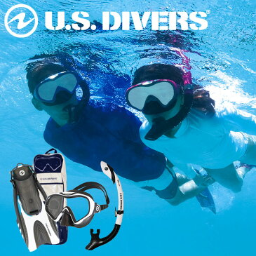 【スノーケル4点セット】US DIVERS/ユーエスダイバーズStarbuck3LX(スターバック3LX)IlanddryLX(アイランドドライLX)Hinge fin(ヒンジフィン)メッシュバッグ付き