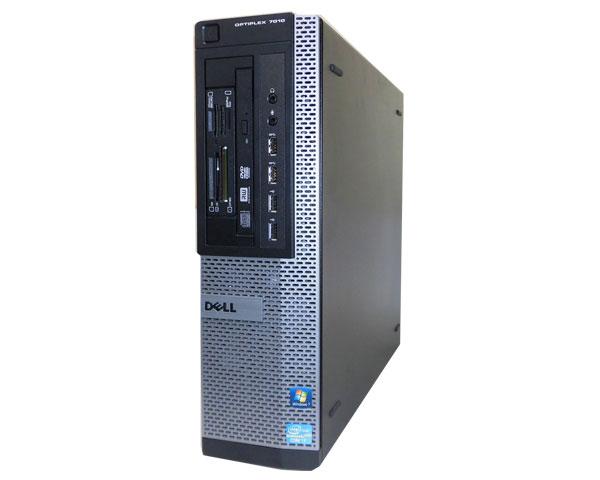 第3世代 Core i7搭載 中古パソコン USB3.0DELL(デル) OPTIPLEX 7010 DTCore i7-3770 3.4GHz/4GB/500GB/マルチ/Win7Pro【中古デスクトップPC】【本体のみ】:アクアライト