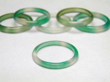 ドロップみたい リング幅2.0mm グリーンメノウ 指輪 リング 1個売り 天然石 パワーストーン