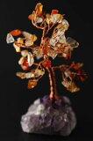 誕生石 7月 天然石ツリー ミニサイズ カーネリアン 天然石 パワーストーン