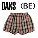 【DAKS LONDON】ダックス紳士メンズ 布帛トランクスハウスチェック ビックパンツ前開き送料無料ギフトラッピング無料日本製