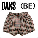 【DAKS LONDON】ダックス紳士メンズ 布帛トランクスハウスチェックパンツ前開き送料無料ギフトラッピング無料日本製