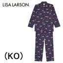 【ワコール】LISA LARSONリサラーソン長袖メンズパジャマ父の日綿100%送料無料ギフトラッピング無料内祝い出産祝いお誕生日プレゼントに最適