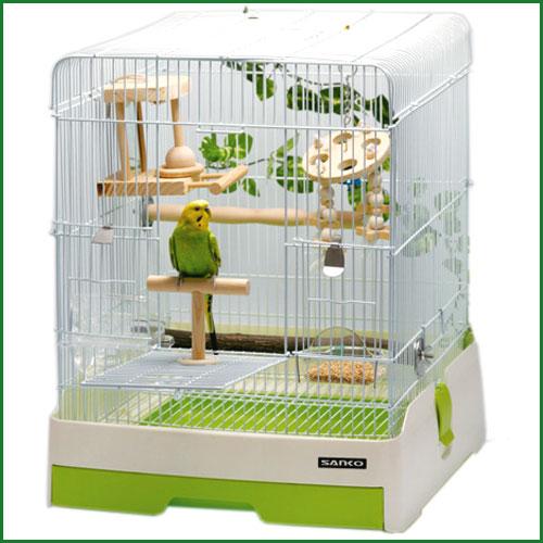 鳥かご 手のり セキセイインコ / イージーホームバード37-GR 飼育セット