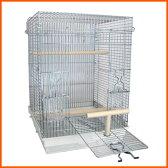 鳥かご 鳥籠 バードケージ オカメインコ / HOEI 465パラキート 底カラー:ホワイト+おまけ付き♪ (組立サイズ:465x465x650mm)【送料無料】