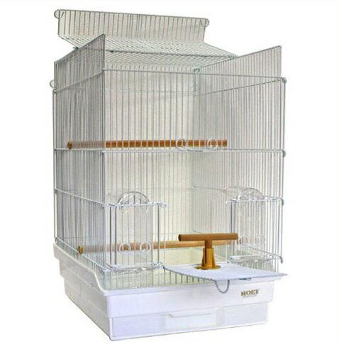 鳥かご HOEI 35手のり ピュアホワイト 底カラー:ホワイト(組立サイズ:370x415x545mm)
