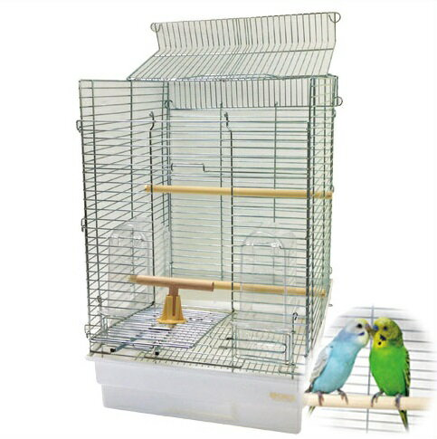 小鳥かご HOEI 35手のりホライズン 底カラー:ホワイト(組立サイズ:370x415x545mm) 【送料無料】