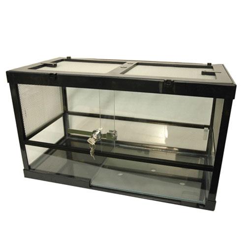 爬虫類 飼育 ケージ 爬虫類ケージ 水槽 両生類/ ケースバイケース60M(パネルヒーターの入れる面は前面用)