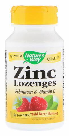 2個セット NATURE'S WAY 亜鉛・エキナセア&ビタミンC配合・ベリー味 60錠