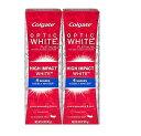 2個セットColgate コルゲート High Impact White ハイインパクト ホワイト 85g OPTIC WHITE