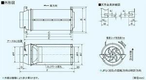 三菱電機空調用送風機斜流ダクトファン消音形JFU-550T3(JFU550T3)