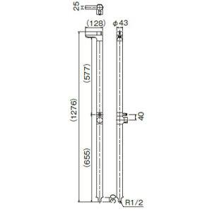水生活製作所水栓柱リベルタ(クルミ木目)G13LK
