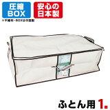 大人気のボックス型圧縮袋、圧縮BOXふとん用1セット入、圧縮袋は安心の日本製品質保証書付