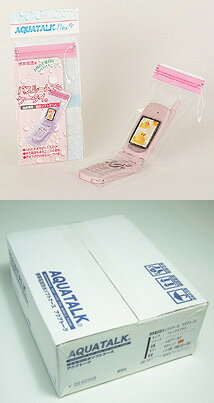 """""""Bathroom in your mobile phone. ' Mobile phone waterproof softcase アクアトーク Flex plus bathroom for 100 pieces value pack (Pink) """"not available"""""""
