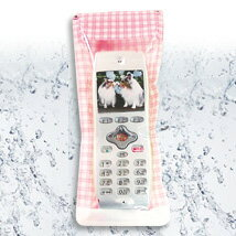"""★ mobile phone waterproof softcase """"アクアトーク' standard type check"""" """""""
