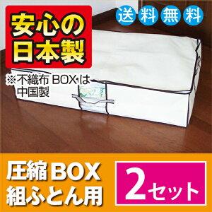 圧縮袋は品質保証書付の日本製!製造メーカー直販の布団圧縮袋大人気のボックス型圧縮袋圧縮BOX...