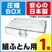大人気のボックス型圧縮袋、圧縮BOX組ふとん用1枚入圧縮袋は安心の日本製品質保証書付