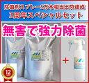 強力タイプ【薄めて使える】 除菌剤アンチウイルスアクア 詰め替え用2パック+除菌スプレー1本セットH (ペットの除菌、赤ちゃんの除菌…