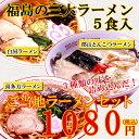 3種類の味を詰め込んだ!福島の三大ラーメン 5食入 ご当地ラーメンセット スープ付