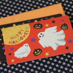 ハロウィーンカード「ゴーストとジャック」(名刺型)