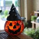 【訳あり】ハロウィン「ジャック オ ランタン」ガラスポット・キャンドルホルダー[Halloween Jack O' glass Lantern]の商品画像