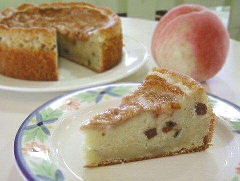 【アレルギーの方のためのオーダーケーキ】卵・小麦粉不使用!桃山町あらかわの桃をたっぷり使った米粉のケーキ(18cm/送料別/冷凍便)【選択】【_のし宛名】【_メッセ入力】