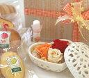 和歌山産フルーツを焼込んだ焼き菓子とプリザーブドフラワーのOneboxギフト 「ハートの宝石箱」(オレンジ)【楽ギフ_包装】【楽ギフ_メッセ入力】【プチギフト・お祝い・お礼に】【花とスイーツギフト】