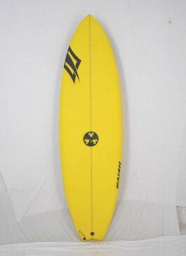 """【新品】Gerry Lopez (ジェリーロペス) × Naish ショートボード [YELLOW]5'10"""" サーフボード フィン付き"""