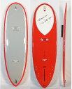 """5'10""""【新品アウトレット】Hawaiian Pro Designs (ハワイアンプロデザイン)スコーピオン モデル サーフボード[Red/Lt gray] ドナルドタカヤマ"""
