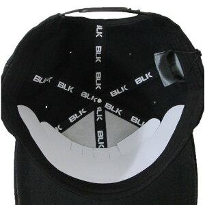 BLKフラットキャップ(ブラックxホワイト)AR008-113