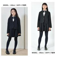 GENERATOR(ジェネレーター)無地ダブルフェイスポンチガールズスーツ黒110-160cm女の子入学式/卒業式