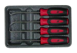 SNAP-ON スナップオン ハンドル 4種ピックツールSET赤色