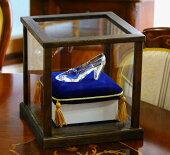 ガラスの靴HappyGlassShoe専用ディスプレイケース木製ガラスver