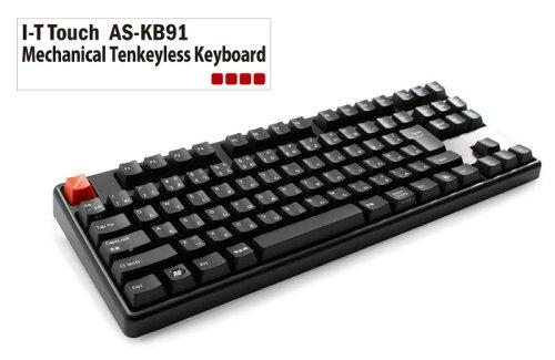 [ARCHISS] 青軸採用 テンキーレスメカニカルキーボード 日本語配列 AS-KB91C