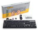 [ARCHISS] (パッケージ不良)ProgresTouch RETRO メカニカルフルキーボード 英語ASCII配列 黒モデル フルキーボード 2色成型 Cherry M…