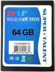 SUPER TALENT DuraDrive ZT4 SSD 1.8インチ 64GB MLC ZIF(IDE)接続 FEU064MD1X