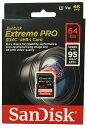 [SANDISK] 新品アウトレット(箱不良) サンディスク Extreme Pro V30対応 UHS-I U3 SDXCカード 64GB (読取95MB/秒、書込90MB/秒) SDSDXX…