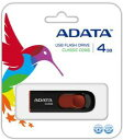 [ADATA] キャップレスで安心 スライド格納式 4GB USBメモリ AC008-4G-RKD