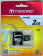[Transcend] 新品アウトレット(箱不良) トランセンド microSDカード 2GB SD変換アダプタ付 TS2GUSD お得な10枚セット