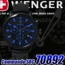ウェンガー 時計が特価!ウェンガー 時計 WENGER メンズ 腕時計 ブラック×ブルー コマンドクロ...