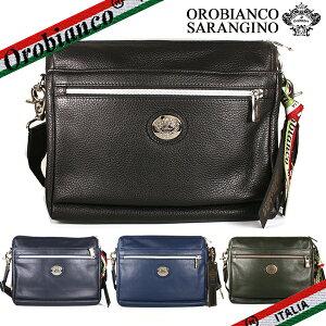 オロビアンコ ショルダーバッグ Orobianco メンズ SARANGINO-C DOLLARO-SOFT サランジーノ クラッチ メンズ オールレザー 本革 ブラック/ブルー/グリーン/イタリア製
