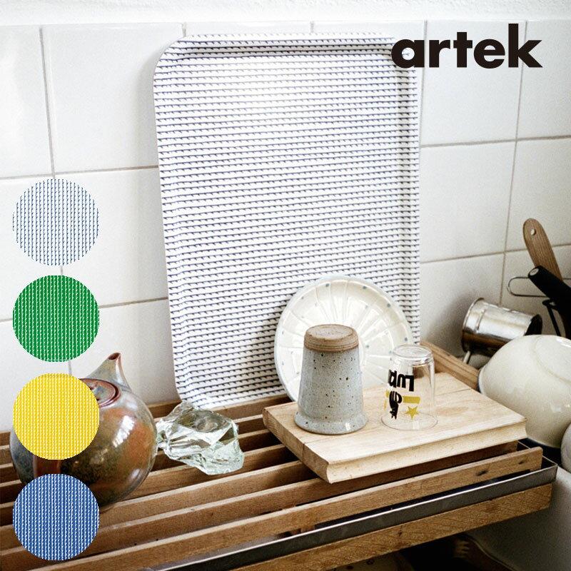 Artek (アルテック) トレイ (S) RIVI リヴィ 27×20cm グリーン ホワイト ブルー イエロー おしゃれな北欧キッチン雑貨 北欧を代表するアアルトデザイン プレゼントやギフトにも人気 おしゃれなインテリア トレー お盆 おぼん カフェトレー