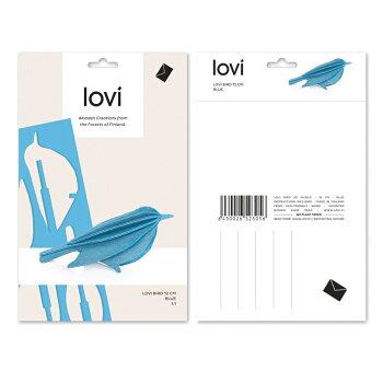 【10倍】Lovi(ロヴィ)バードM12cm(ブルー、ブラック、ナチュラル、イエロー、グリーン、レッド7色)北欧オーナメントカード【メール便OKプレゼント】