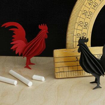 Lovi(ロヴィ)オンドリ10cm(レッド、ブラック、イエロー3色)/北欧オーナメントカード鳥白樺【メール便OKプレゼント】