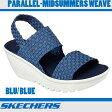 スケッチャーズ シーズン終了につきこの価格です! パラレル ミッドサマー ウェーブ 38461 BLU  SKECHERS PARALLEL-MIDSUMMERS WEAVE (BLU)BLUE レディース ウィメンズ 女性 靴 サンダル ウエッジサンダル ブルー