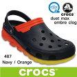 クロックス デュエット マックス オンブレ クロッグ crocs duet max ombre clog 204150 487 Navy / Orange サンダル 軽量 クロッグ レディース ウィメンズ メンズ ユニセックス