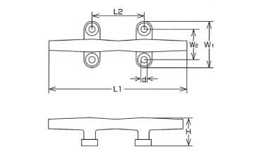 水本機械ステンレス金具クリート10個価格KT-8