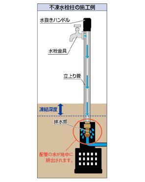 カクダイ不凍水栓柱長さ1500ミリ624-301-1500