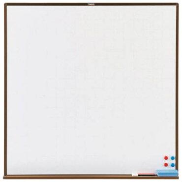 トラスコスチール製ホワイトボード白暗線ブロンズ900×900※取寄せ品WGH-33SA-BL